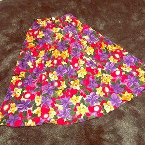 Vintage cherry 🍒 flower 🌸 skirt